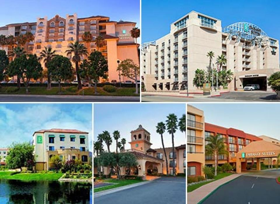 Embassy Suites Brea, Embassy Suites Lompoc, Embassy Suites San Luis Obispo, Embassy Suites Santa Ana, Embassy Suites Temecula